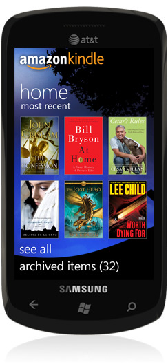 Image of Kindle for Windows Phone