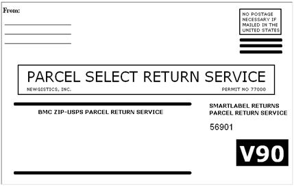 Sample USPS Label
