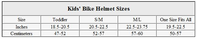 Kids Bike Helmet Sizes
