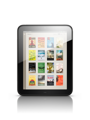 Image of the Kindle application on HP TouchPad