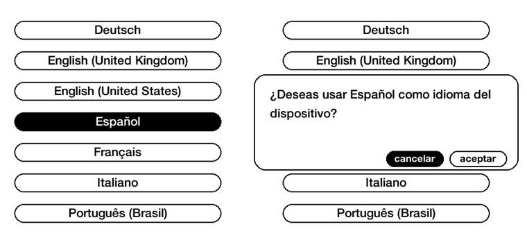1. Seleccionar tu idioma
