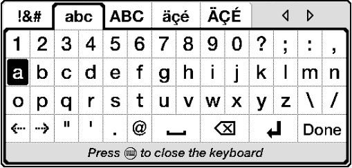 Utilizar el teclado en pantalla