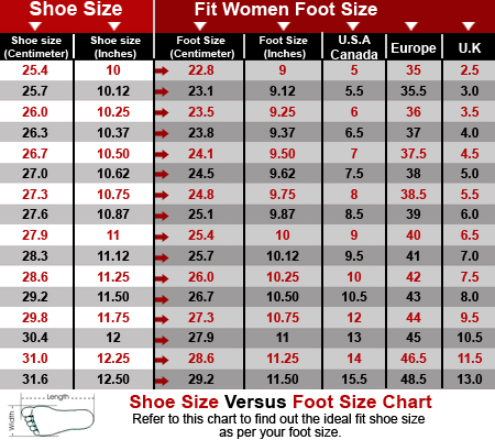 Amazon shoe size chart ibov jonathandedecker com