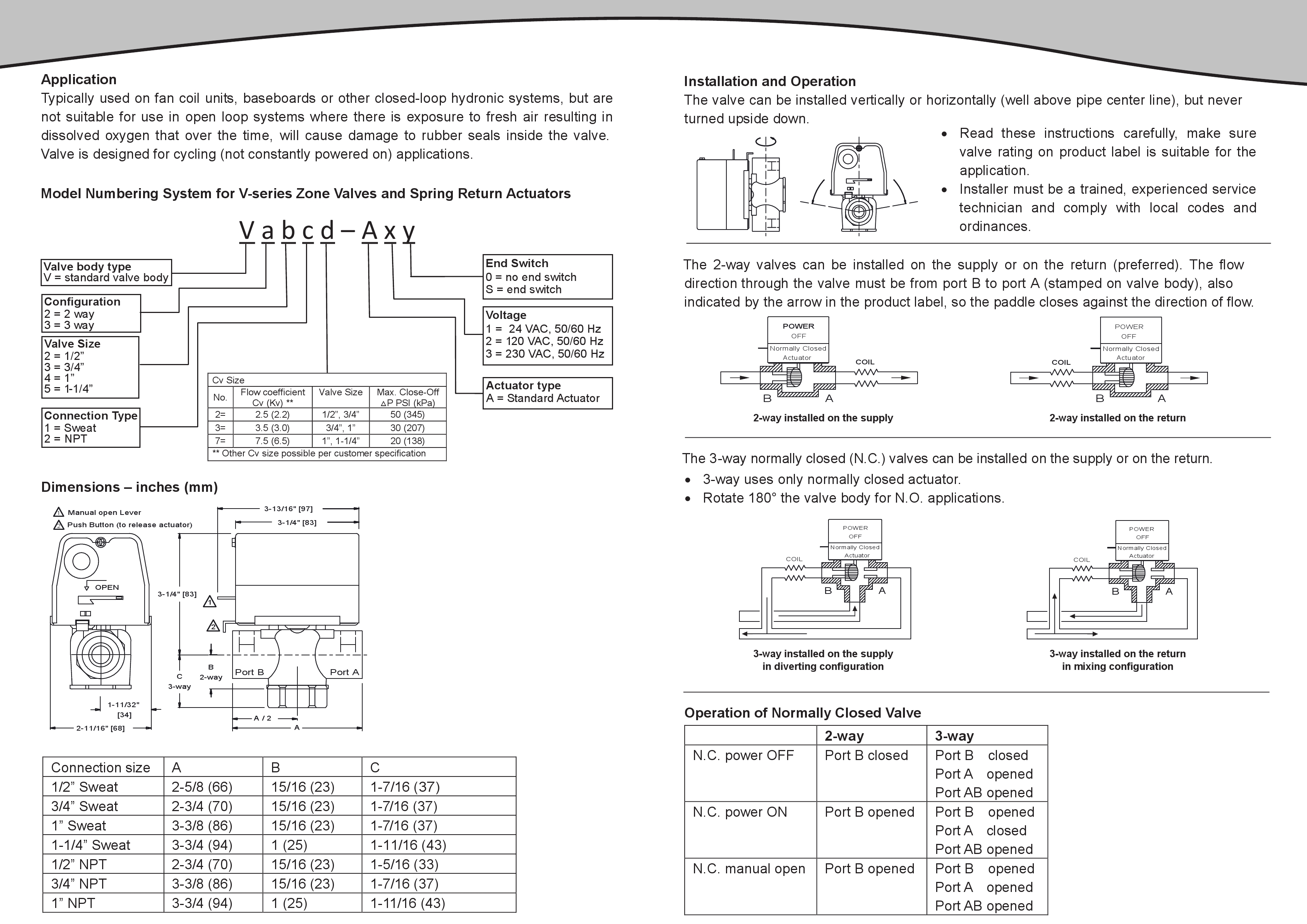 Seller Profile Valemo Controls Hydronic Zone Valve Wiring Diagram For Honeywell Users Manual And Technical Specifications The V Series 2 Way 3 Valves Ad1s Replacement Power Head Select