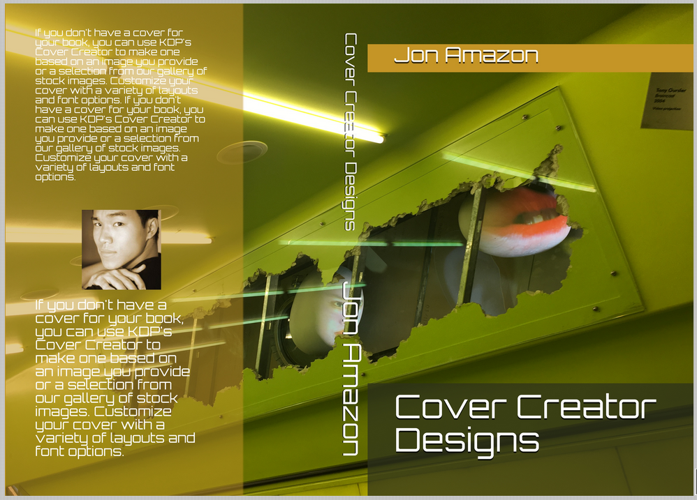 Obitron For The Front Back Cover And Spine Text Layout Chosen Template Places Author Name Title