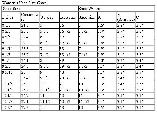 Ferragamo Shoe Size Converter
