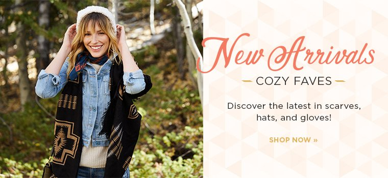 Hero-1-Cozy Faves-10-31-2016 Shop the latest in scarves, hats, and gloves.
