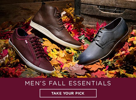 Men's Fall Essentials. Take your pick.