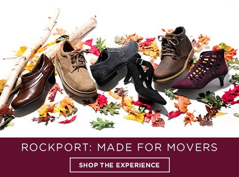 Rockport. Made for mover. Shop the experience.