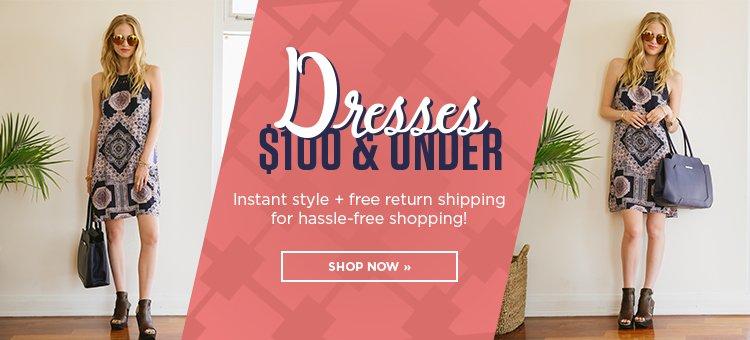Hero 1 - Dresses under $100