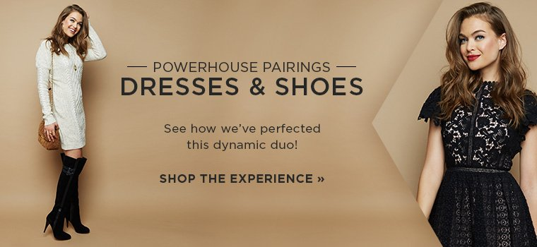 Hero-1-Perfect Pairs-2016-10-31 Powerhouse Pairings. Dresses and Shoes.