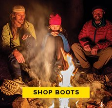 cp-1-keen-2016-10-26 Shop Boots. Image of people sitting around a campfire.