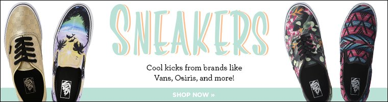 Sneakers. Cool kicks from brands like Vans, Osiris, and more! Shop now.