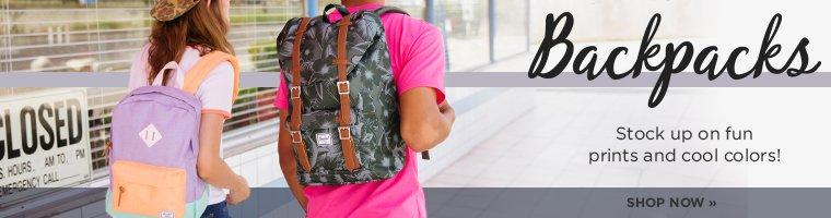 Backpacks. Shop Now