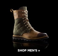 cp-2-sorel-2016-11-1 Shop men's boots. Image of a black and brown lace-up boot.