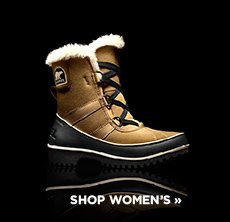 cp-1-sorel-2016-11-1 Shop women's boots. Image of a black and brown boot with fur trim.
