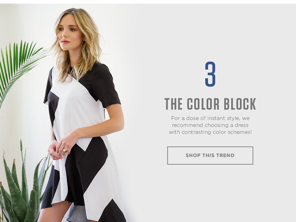 Color Block Dresses