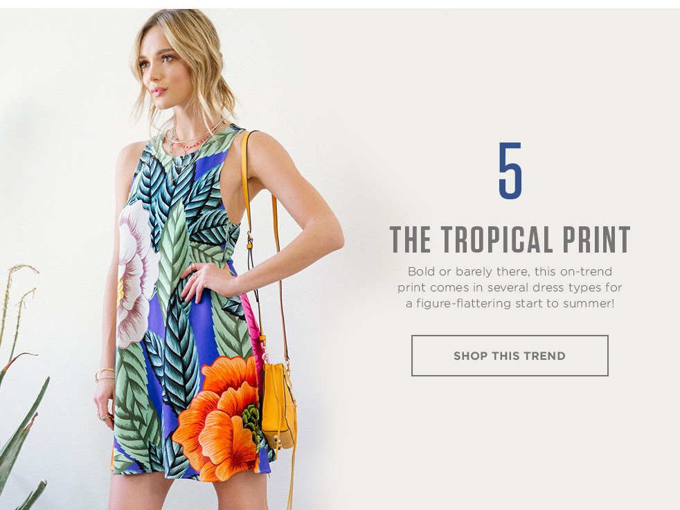 Tropical Print Dresses