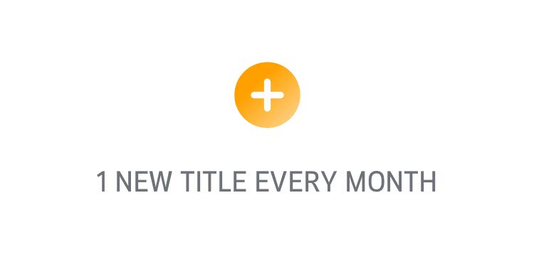 1 new title every month