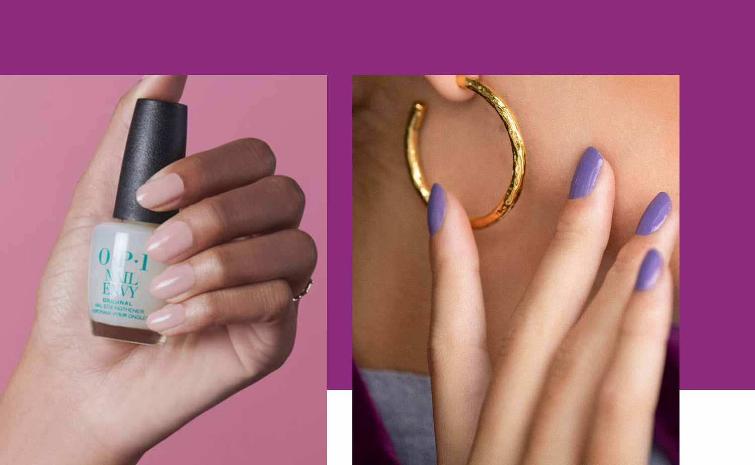 Two female models showing off manicured nails and nail polish