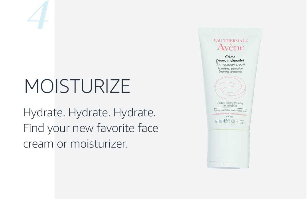 skin moisturizer as step four of skincare routine