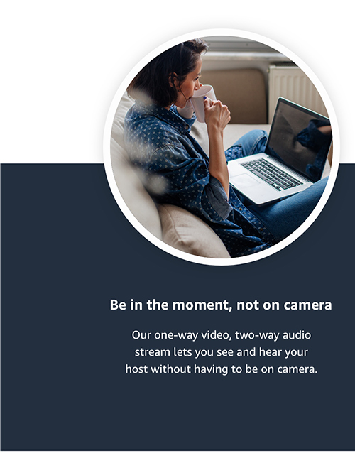 be in the moment, not on camera