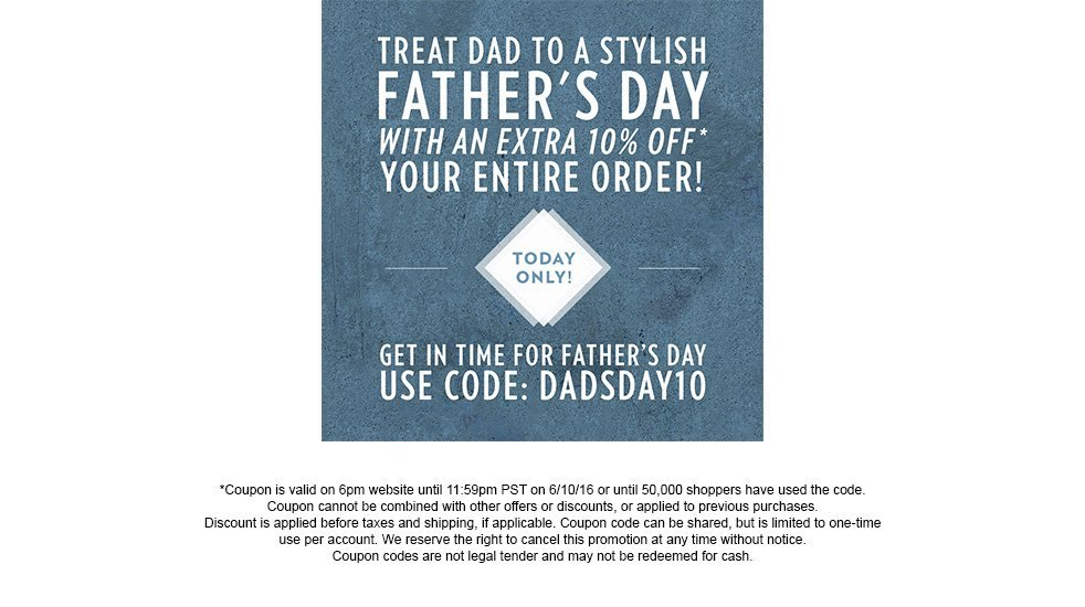 Dads Day Coupon