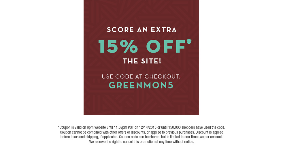 6pm coupon code 2018
