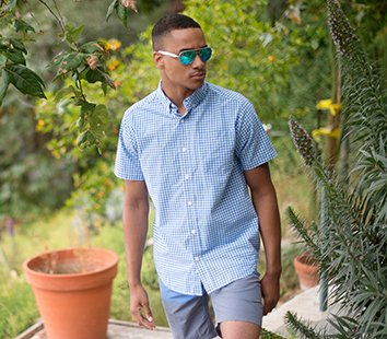 Men's short sleeve button up shirts