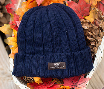Men's Navy Blue UGG Beanie