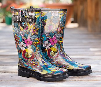 Colorful Women's Rain Boots