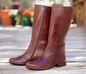 Brown Tall Boots With Wide Calf
