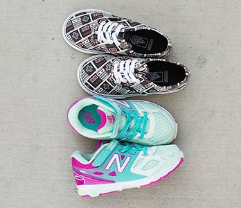 Girl's Vans Nintendo Sneakers And New Balance Sneakers