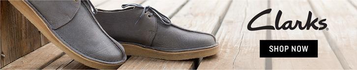 Grey Men's Clarks Shoes