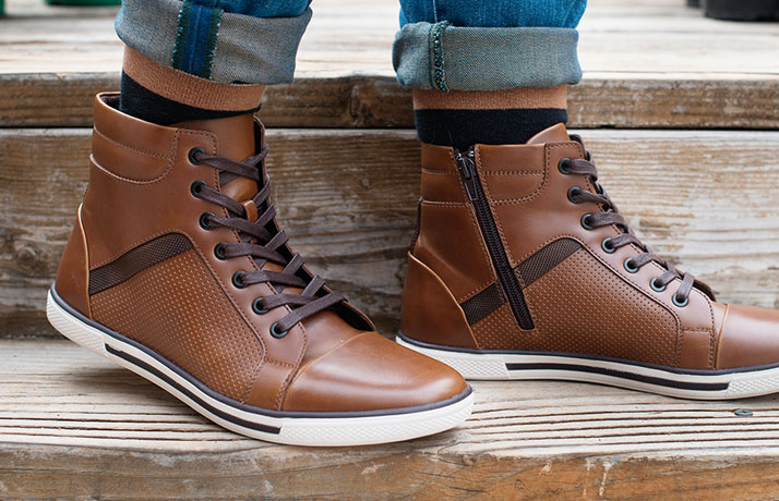 Kenneth Cole Brown High Top Sneakers