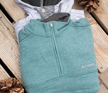 Light Green And Grey Folded Men's Hoodies & Sweatshirts