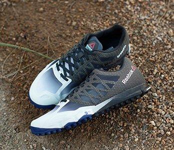 Reebok Black And Blue Cross-Training Sneakers