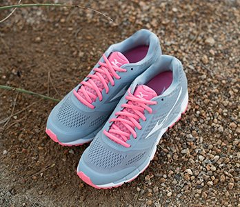 Mizuno Pink And Grey Neutral Running Sneakers