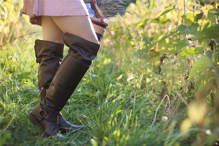 Brown Over-The-Knee Boots