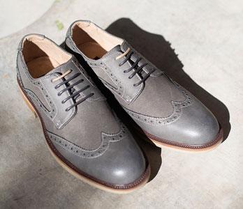 Men's Grey Oxfords