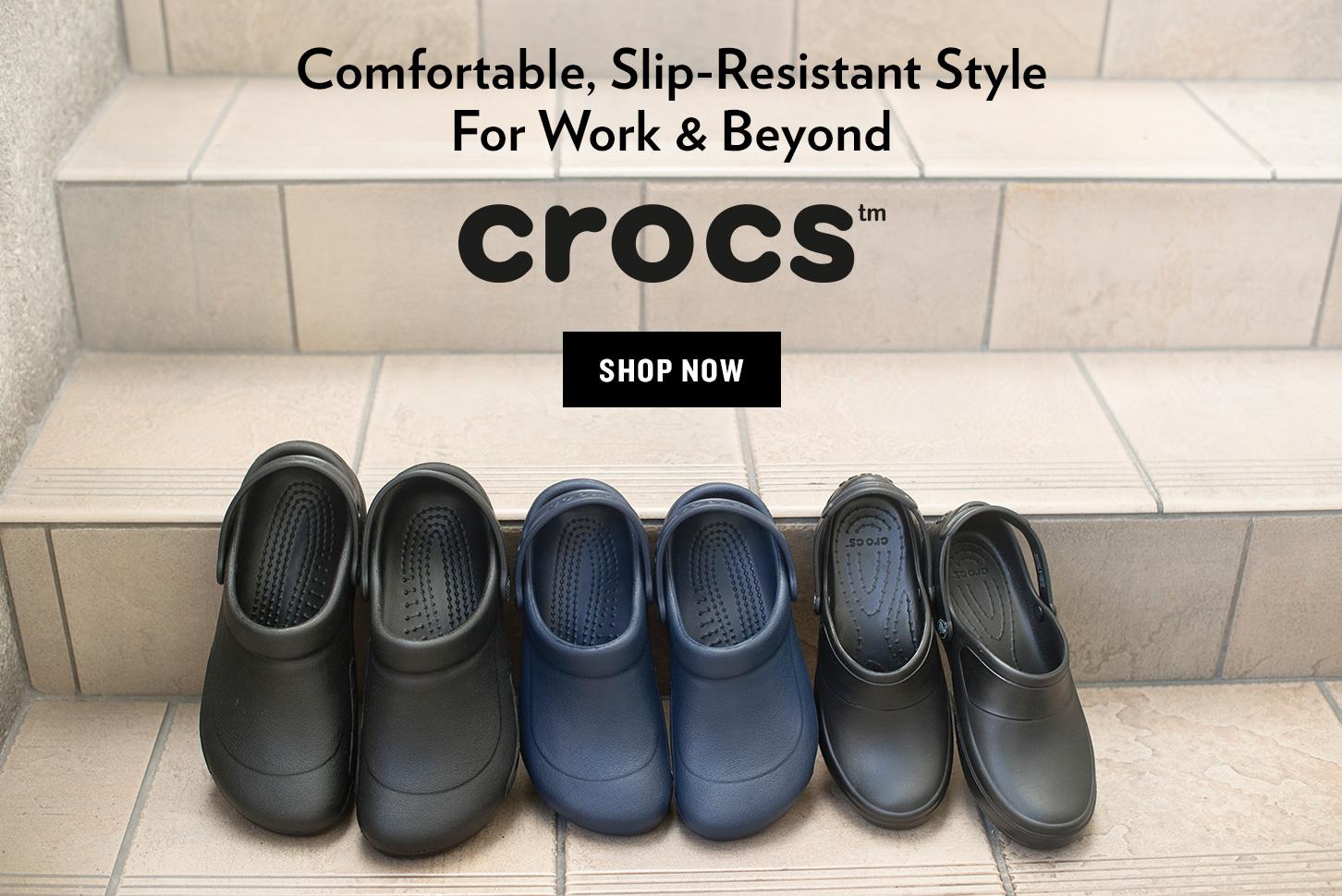 Black and Blue Crocs