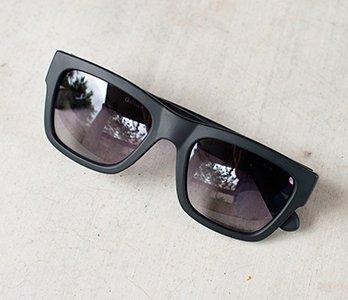 Black G By Guess Rectangular Sunglasses