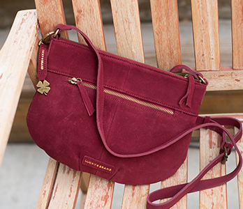 Wine Colored Lucky Brand Crossbody Handbag