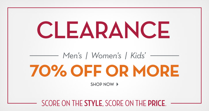 Clearance 70% off or more!