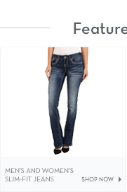 Men's and Women's Slim-Fit Jeans