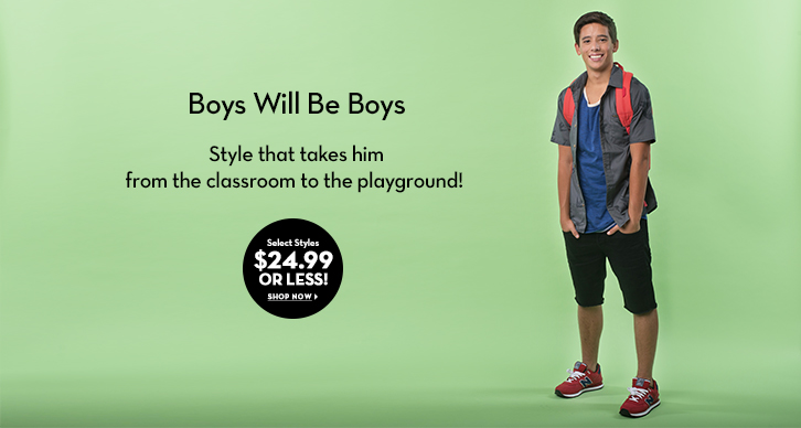 Boys' $24.99 or less