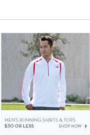 Men's Running Shirts & Tops $30 or less