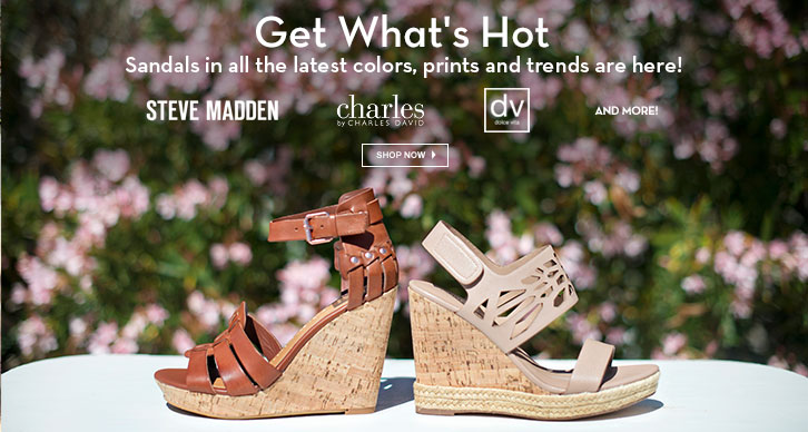 Sandals in all the latest colors, prints and trends are here!