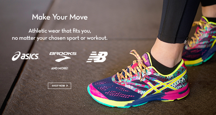 Asics, Brooks, New Balance, and more!