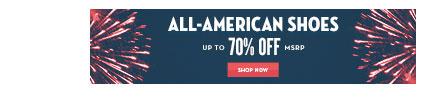 7/2 - 4TH OF JULY WEEKEND SALE - All American Footwear